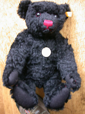 Steiff Classice Black Bear 17.5' tall with pink noise (rare version)