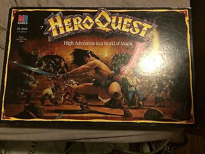 Hero Quest Boardgame - Games Workshop - MB - 99% Complete, Mostly Unpainted.