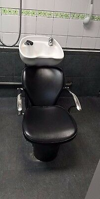 Hairdressing chairs with basin unit