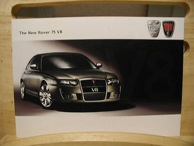 Original 2004 Mg Rover Rover 75 V8 Dealer Sales Brochure  4 Sided Leaflet