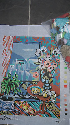 Glorafilia Room With A View Bnip Tapestry Or Crewel Embroidery Kit + Frame