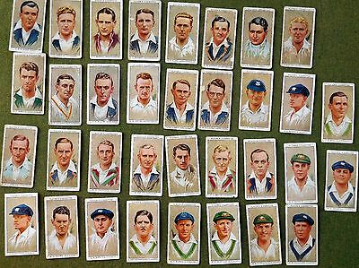 CRICKETERS 1934  JOHN PLAYER & SONS SET OF 33 from 50