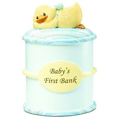 Diddy duck baby's first baby bank by Suki Gifts - Blue ~ D
