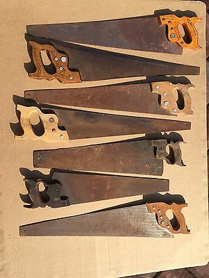 Vintage Hand Saw Lot-  Woodworking