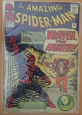 The Amazing Spider-Man #15 ⭐️ 1st First Kraven ⭐️ FR/GD