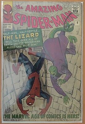 The Amazing Spider-Man #6 ⭐️ 1st First Lizard ⭐️ GD+