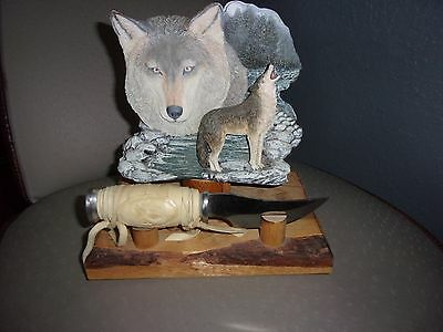 Coyote Fox Wolf Statue And Knife Home Decor
