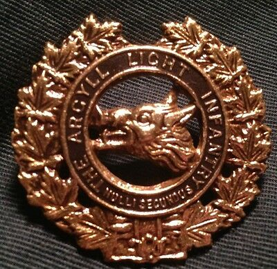 ARGYLL LIGHT INFANTRY of Canada Pre WWII hat cap badge pre WW2 1923 Canadian