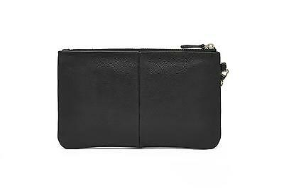 New HButler Mighty Purse Leather Wristlet with Built in Phone Charger