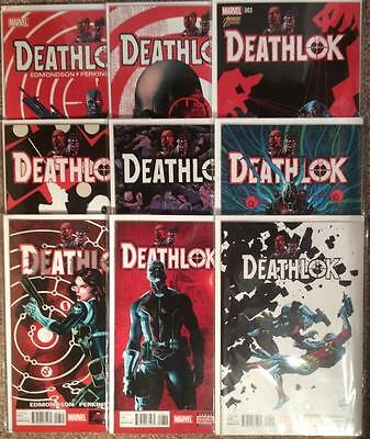 Deathlok #1 - #9 (2014 4th series) all first prints. Condition range VF to NM.
