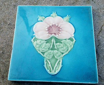 Superb original genuine art nouveau ceramic tile