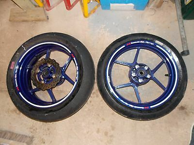 2004-2005 C1H C2H Kawasaki ZX10R Front & Rear wheels - race track road