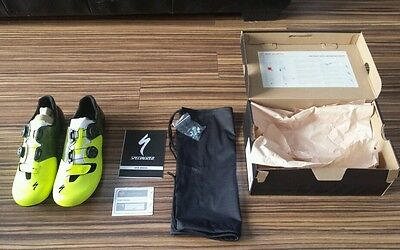 Specialized S-Works 6 road shoes size EU 44.5 team Neon Yellow UK 10 carbon new