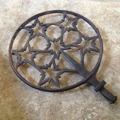 Antique Iron Hot Pot Holder - Very Early