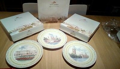 "3 Royal Doulton Iconic London 10.75"" Collectors Plates Boxed/New"