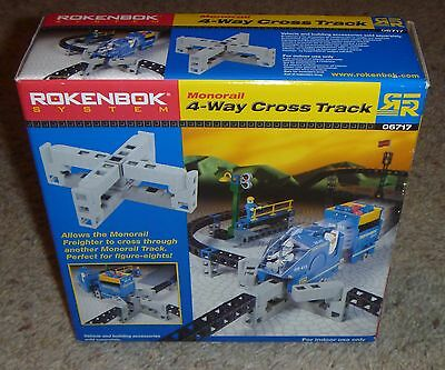 Rokenbok Accessories Monorail 4-Way Cross Track in Box