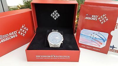 2 X DAY SALE ONLY-RAF Hawk RED ARROWS CHRONOGRAPH WATCH Limited Edition- NEW