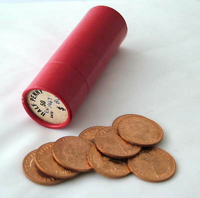 Uk British 1967~ Pre Decimal~ 50 X ½ Half Penny Coins~ Uncirculated ~ Red Tube