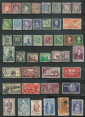 Ireland Vintage selection of 43 stamps from 1920's to 60's  REALLY NICE  LOT D21