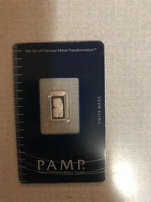 1 Gram Platinum Bar PAMP In Sealed Assay Card
