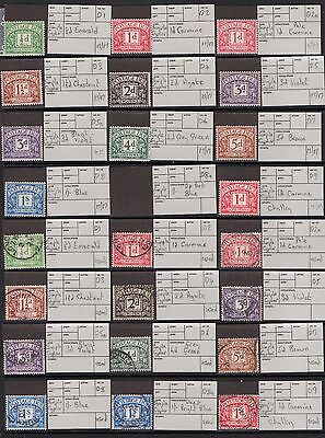 JV-1  GB Postage Due's Unmounted Mounted & Used D2 - D76