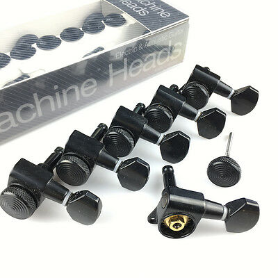 Genuine JINHO locking Tuner Korean 6 in Line Black for Fender Strat Tele Guitar