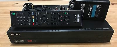 Sony SVR-HDT500 Twin Freeview Receiver HD Tuner Box 500GB HDD Recorder Receiver