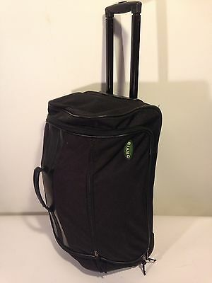 """ORVIS CANVAS & LEATHER BLACK WHEELED ROLLING DUFFLE BAG 21x14x10"""" Luggage"""