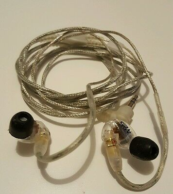 Shure SE425 In-Ear Earphones / Headphones - Clear, with Case and Tips