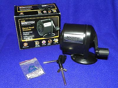 Stanley Bostitch MPS1-BLK Antimicrobial Manual Pencil Sharpener - BRAND NEW!!