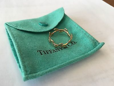 100% Authentic Tiffany & Co Paloma Picasso Olive Leaf Band Ring - Rose Gold