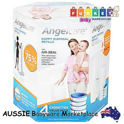 [Angelcare] Nappy Refill Cassettes - 4 Pack