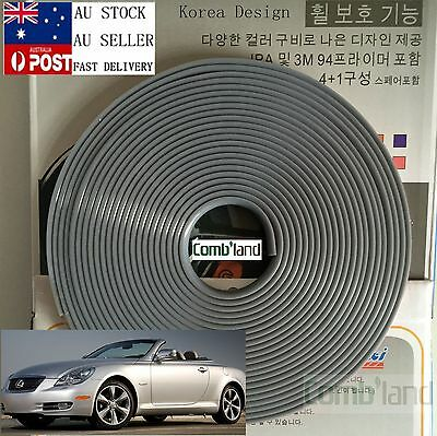 Gray 8M Car Wheel Rim Protector Tire Guard Rubber Moulding Adhesion Promoter