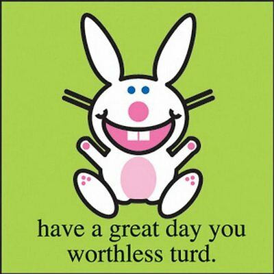 Happy Bunny Turd Button B-HB-0002