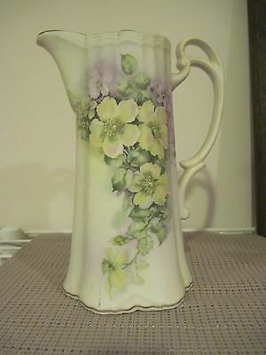 Andrea By Sedak Porcelain Coffee Server 8 1/2 inches High Flowers Gold Trim