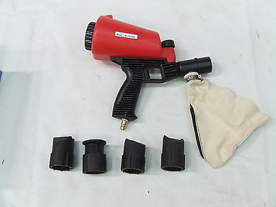 Sandblasting Gun Sandblaster With Dust Collector Bag Sandblast Nozzle
