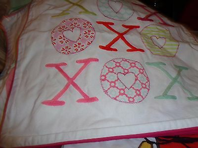 "Pottery Barn Teen  Inspiration  Pillow cover 18"" XOXO hugs and kisses new"