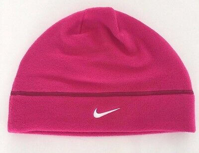 Nike Arctic Fleece Beanie Cap Embroidered Hat Women's Unisex Pink One Size