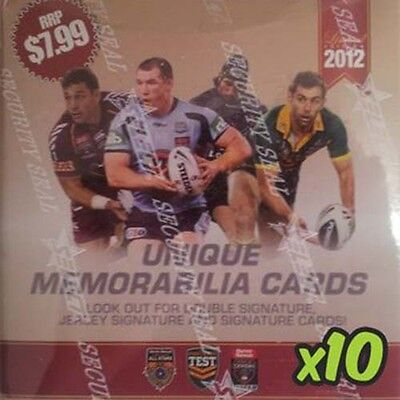 NRL 2012 RUGBY LEAGUE - Limited Edition Trading Cards Box ~ Sealed Case (10)