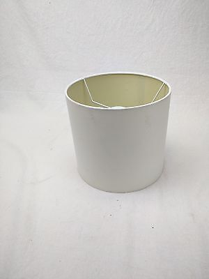 """Contemporary Drum Shape Lamp Shade 9"""" w x 9"""" ht White with stains"""