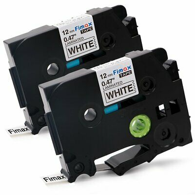 Compatibel Brother TZe-231 TZ231 P-touch Label Tape 12mm Black on White 2PK