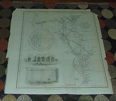 ANTIQUE Map 1839 BAGHDAD & MOSIL Royal Geographical Society