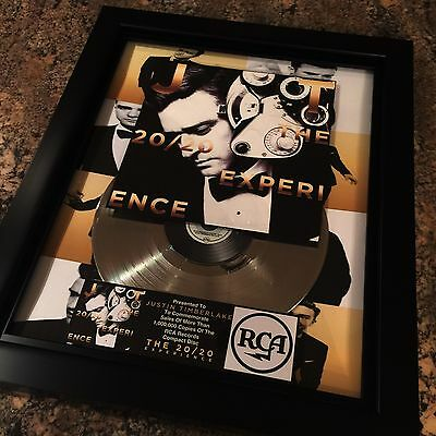 Justin Timberlake 20/20 Platinum Record Album Disc Music Award MTV Grammy RIAA