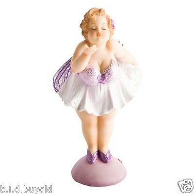 Buxom Fairy Statue Figurine Blowing a Kiss Brand New Adjustable Wings