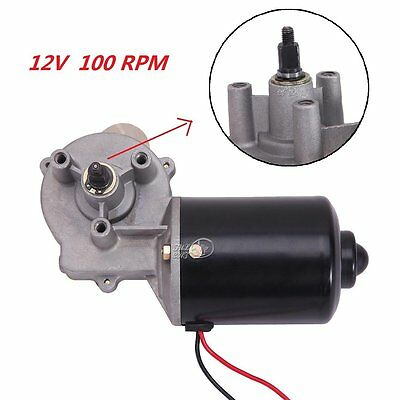 100 RPM High Torque Electric Gear Motor 12V DC Low Speed Reversible Gearmotor