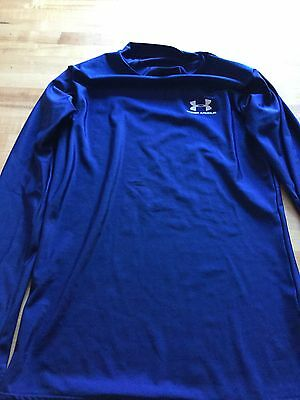 Youth Athletic Shirt, UNDER ARMOR, Blue, Long Sleeve