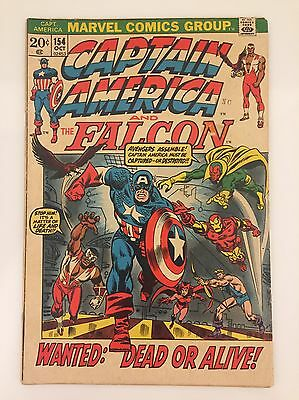 Captain America By Marvel Comics (#154 -1972) Great Condition