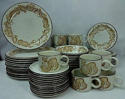 MIDWINTER (Wedgwood) pottery SEASCAPE pattern 60-piece SET SERVICE for 12