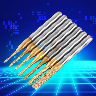 """1.0-3.175mm 1/8"""" Carbide End Mill CNC PCB Engraving Drill Bit Milling Cutter HOT"""