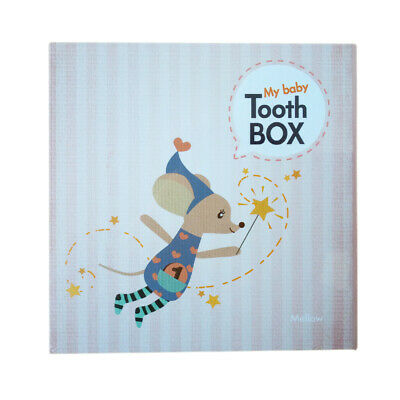 Fairy Baby Tooth Box Organizer Baby Album Tooth Case Baby Gift Tooth Storage
